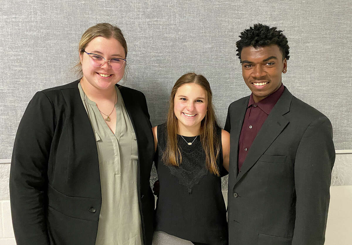Silsbee High School debate Region 5 participants Nicole Duke, Emma Scott-Wellman and Anthony Taylor.