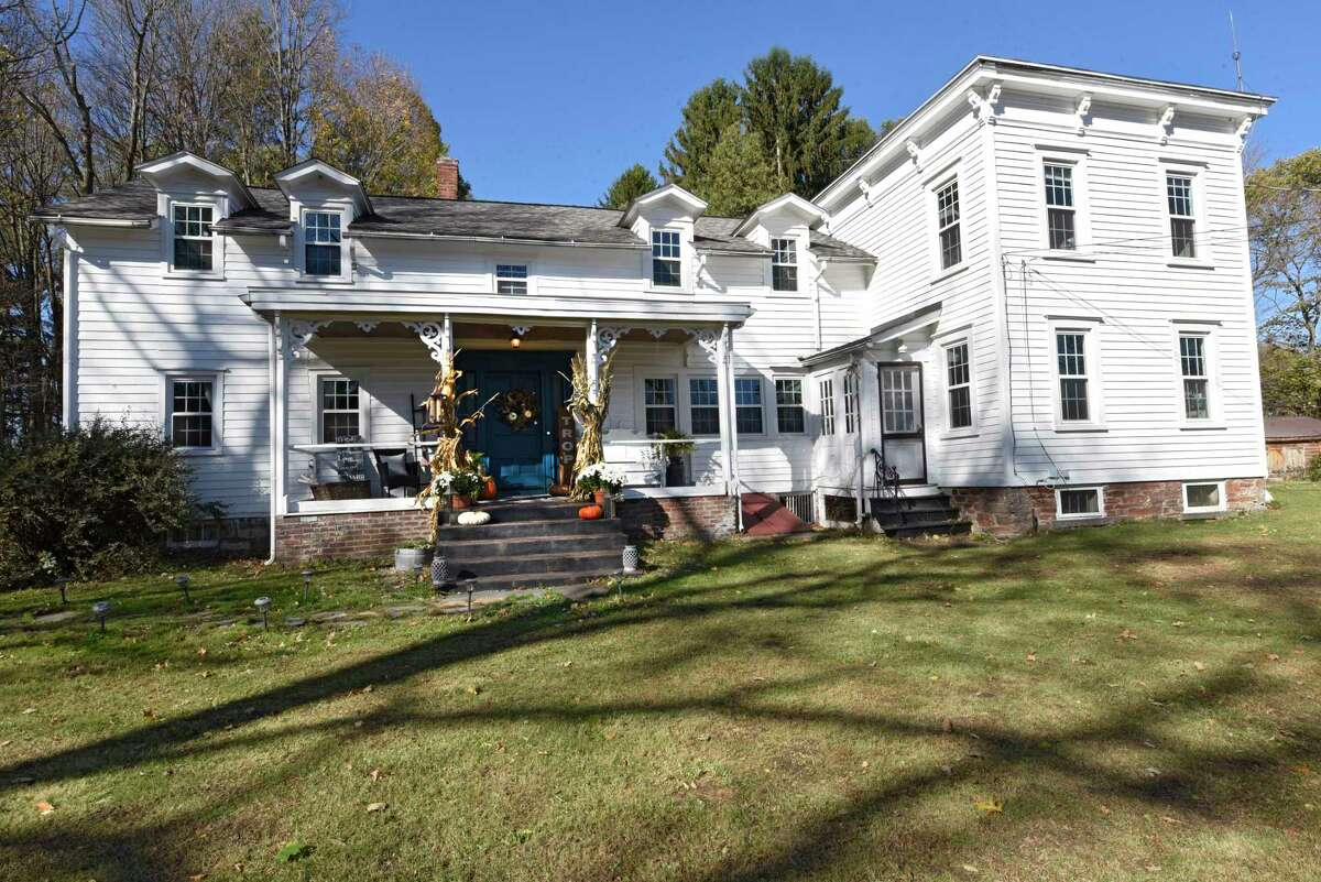 Exterior of Sarah and John Trop's historic home on Wednesday, Nov. 4, 2020 in Wynantskill, N.Y. Sarah and John Trop bought the home with a goal of restoring it. (Lori Van Buren/Times Union)