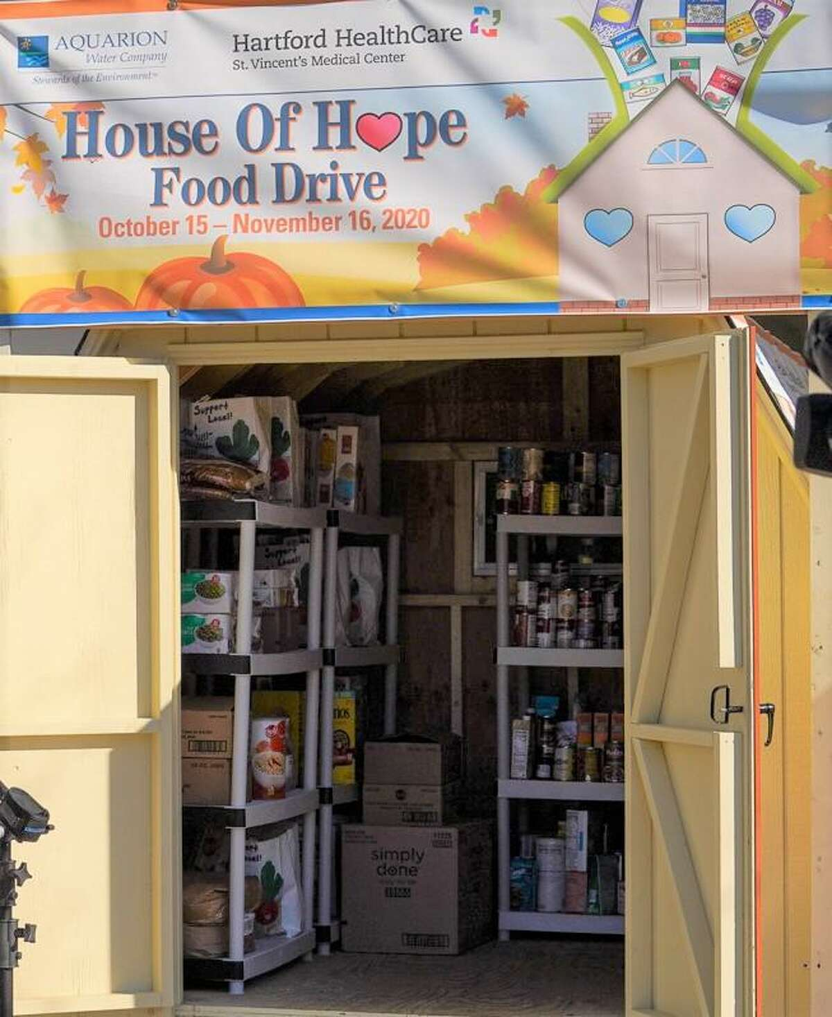 The House of Hope pantry at St. Vincent's Medical Center, 2800 Main St. Bridgeport.
