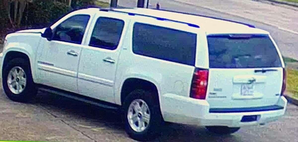 The suspect's vehicle.