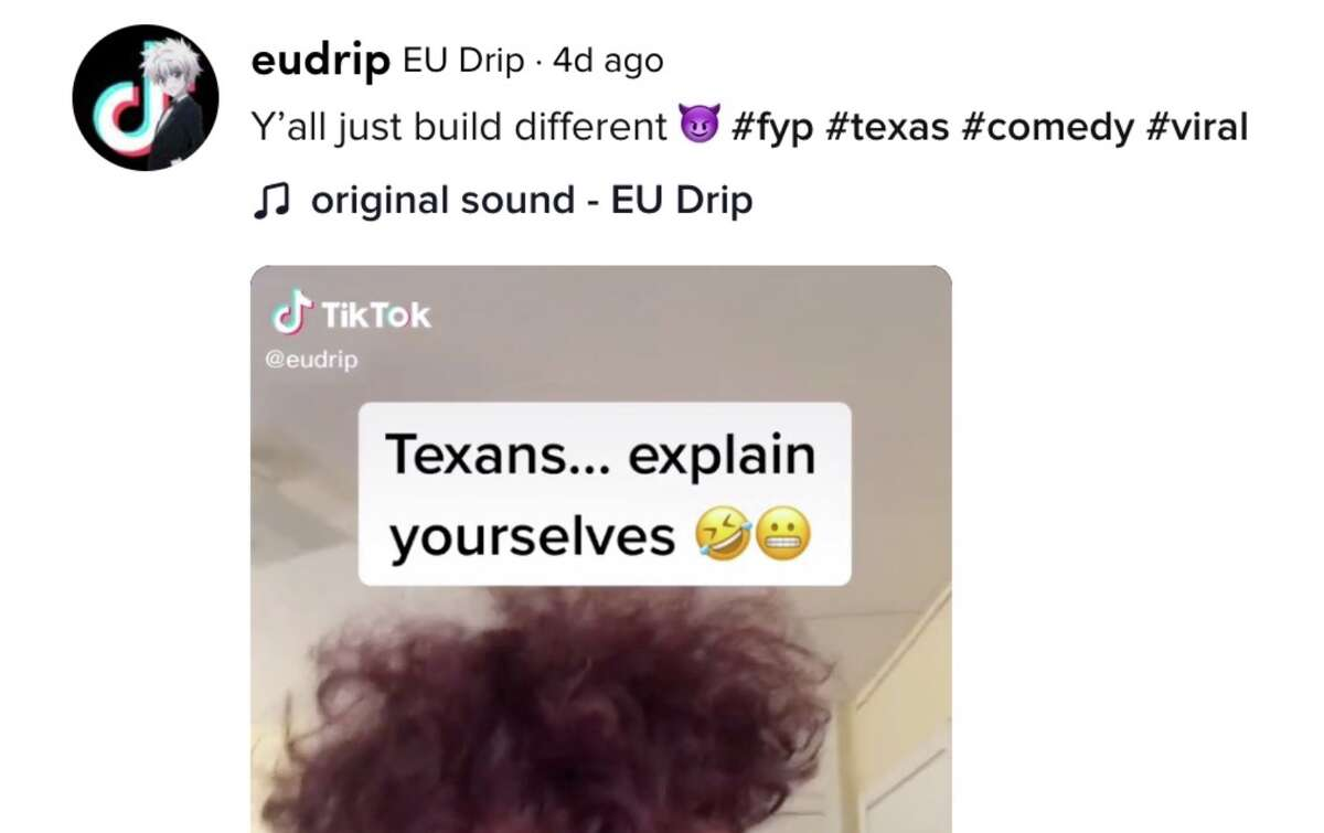 @EuDrip on TikTok has thoughts on the weather in the great state of Texas.