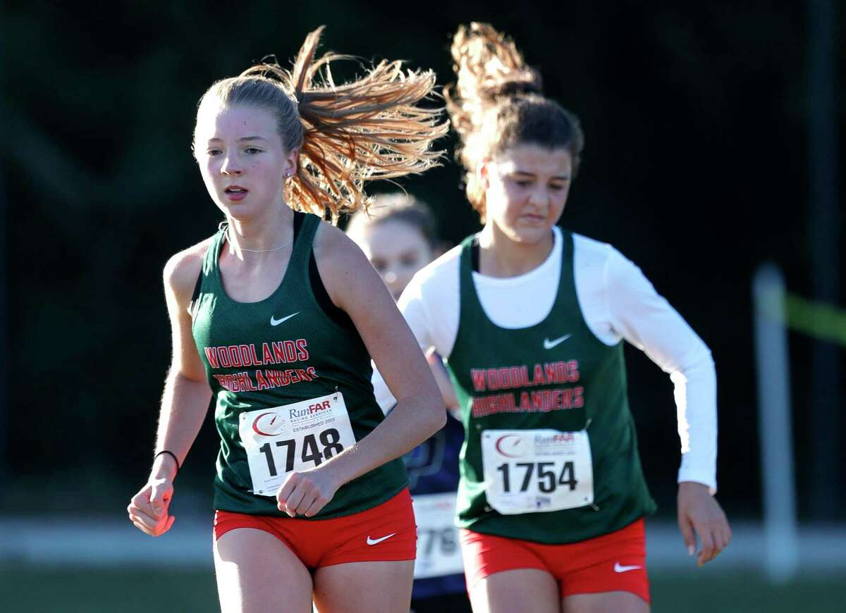 The Woodlands' Brooke Forbes finished fourth in the District 13-6A high school cross country championship at College Park High School, Thursday, Oct. 29, 2020, in The Woodlands.