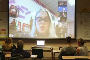 The Manistee Middle School Youth in Government program attended a YMCA Michigan virtual conference in which leadership elections were held on Nov. 5.