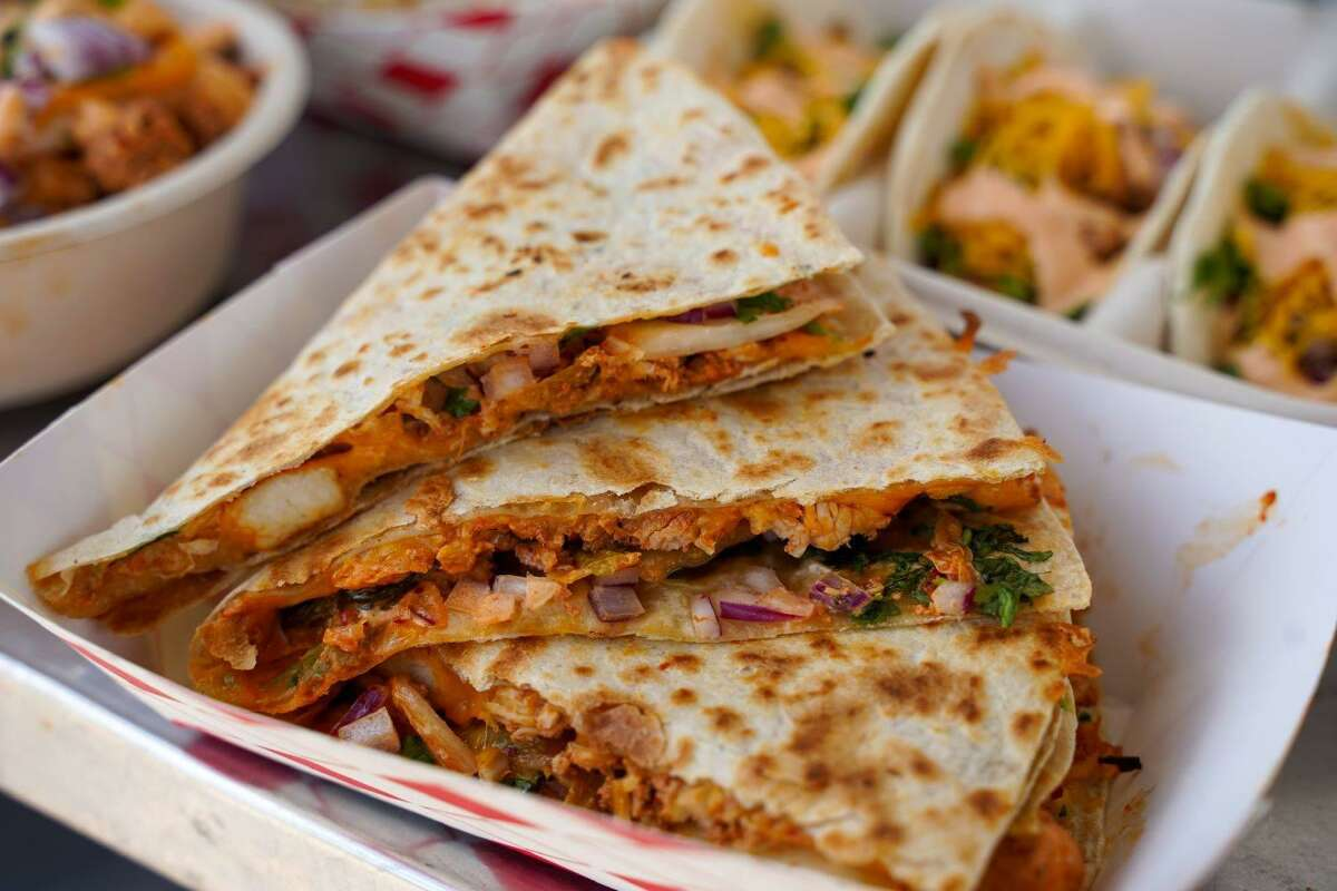 A quesadilla from Coreanos is one of many menu options that blends Mexican and Asian flavors into the menu.