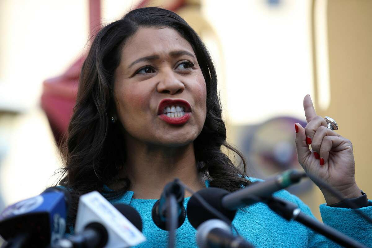 San Francisco Mayor London Breed speaks during a news conference on Nov. 21, 2019, in San Francisco.