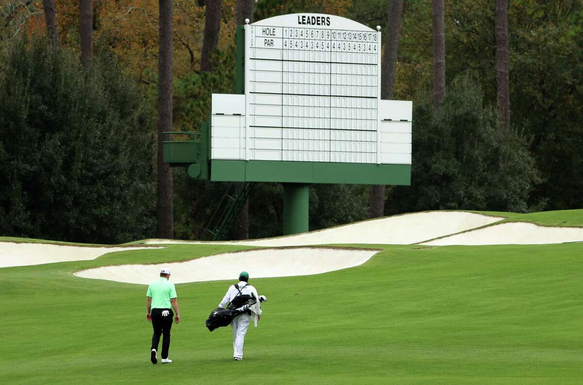 AUGUSTA, GEORGIA - NOVEMBER 10: Amateur James Sugrue of the United States walks on the third hole during a practice round prior to the Masters at Augusta National Golf Club on November 10, 2020 in Augusta, Georgia.
