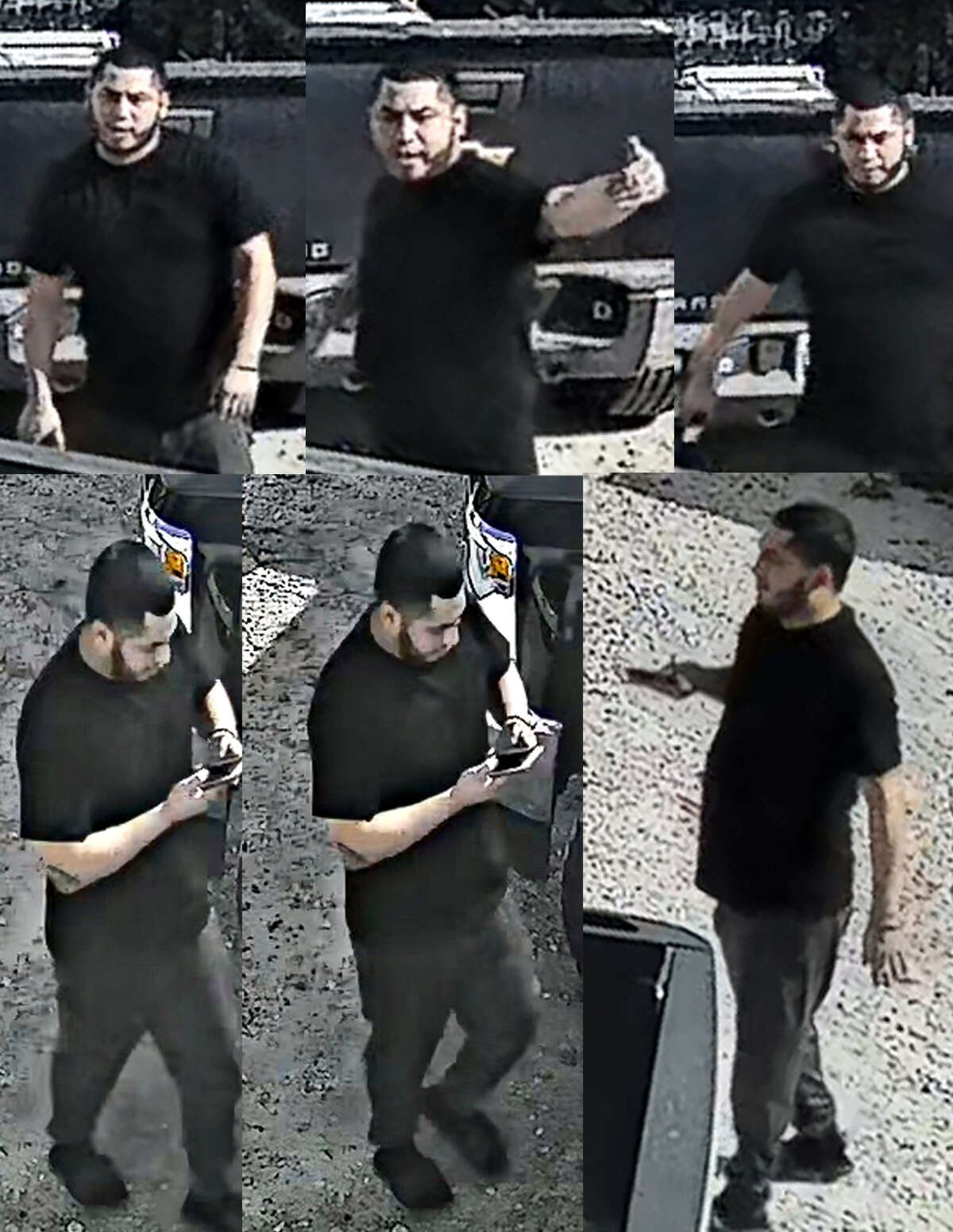 Houston Police are looking for this man, a person of interest, in the shooting death of Sergeant Sean Rios, 47, a 25-year veteran of the department. Rios was killed November 9, 2020. Handout photo from the Houston Police Department