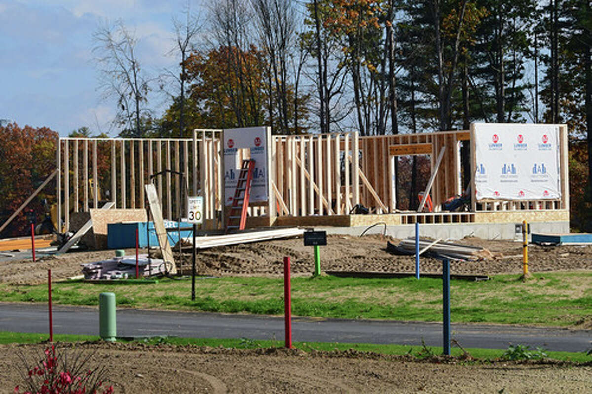 Abele Builders is putting up new homes in a 37-lot subdivision called Eastpointe on Friday, Oct. 23, 2020 in Halfmoon, N.Y. (Lori Van Buren/Times Union)