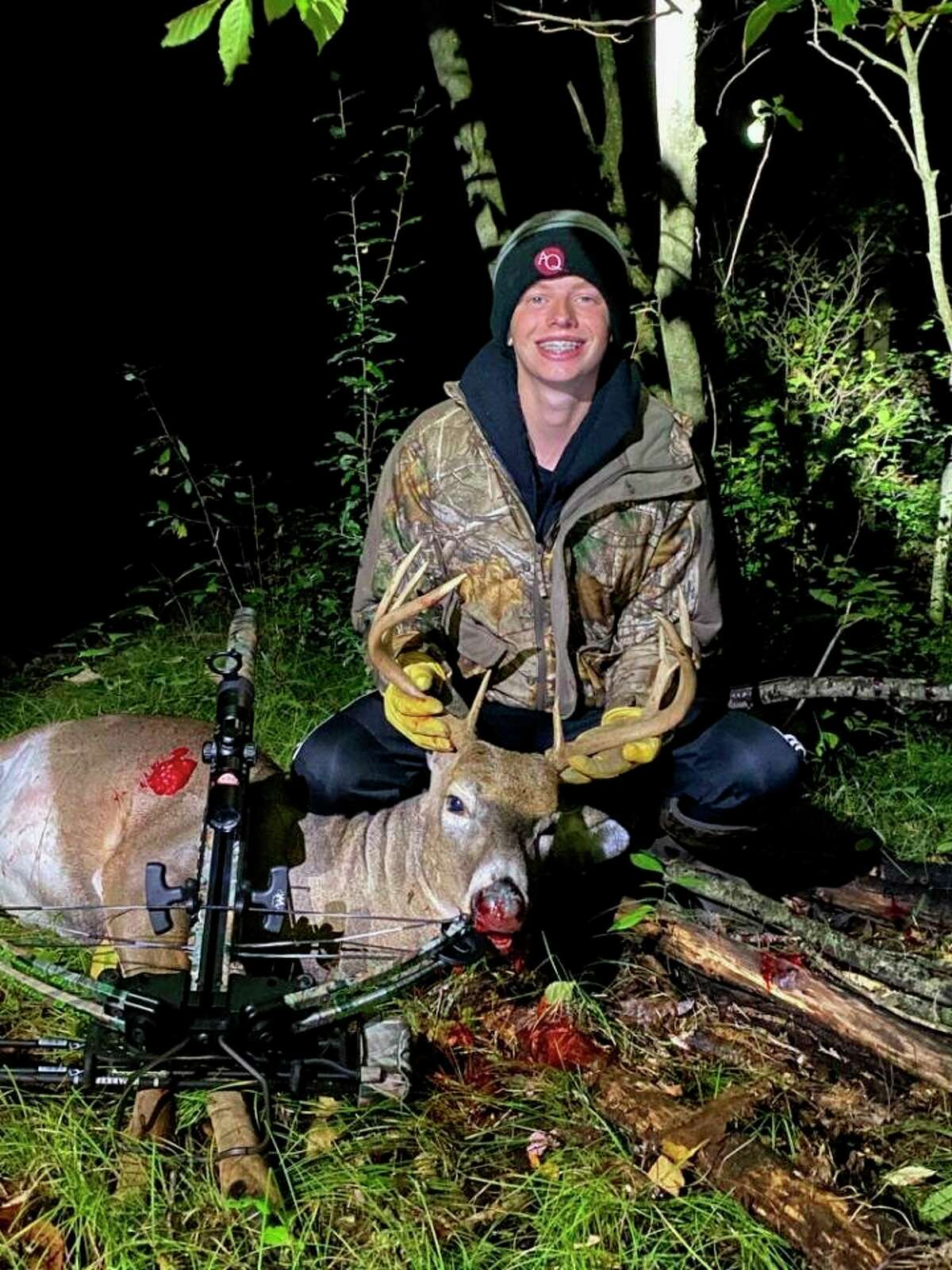 Fischer Morrison has been a successful bow hunter this season. (Courtesy photo)