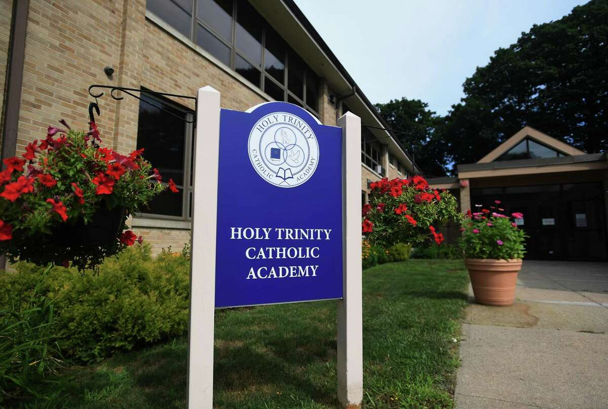 Holy Trinity Catholic Academy in Shelton, Conn. on Thursday, July 30, 2020. The school is opening on August 31 for in person instruction five days a week.