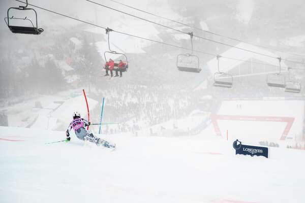 KILLINGTON, VT - NOVEMBER 25: Piera Hudson of New Zealand during the first run of the slalom at the Audi FIS Ski World Cup - Killington Cup on November 25, 2018 in Killington, Vermont. (Photo by Dustin Satloff/Getty Images)