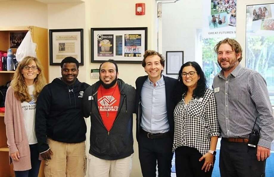 Connecticut state Sen. Will Haskell (D-26) met with Ridgefield Boys & Girls Club leaders in late summer 2019 on a tour of the facility. Photo: Contributed Photo