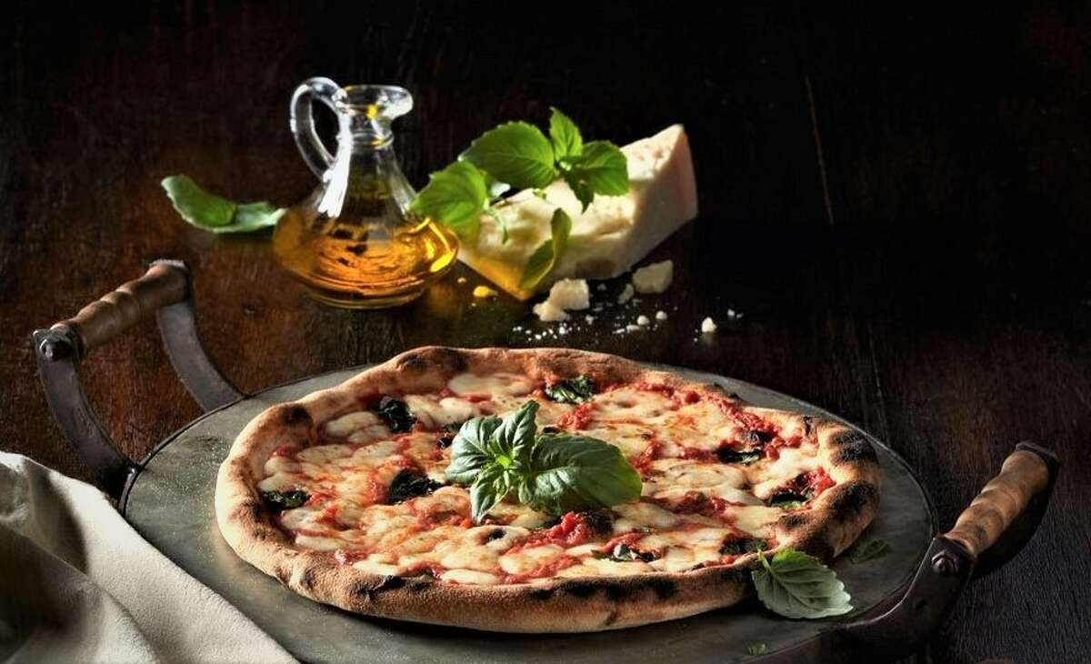 Pictured: Stone oven pizza.