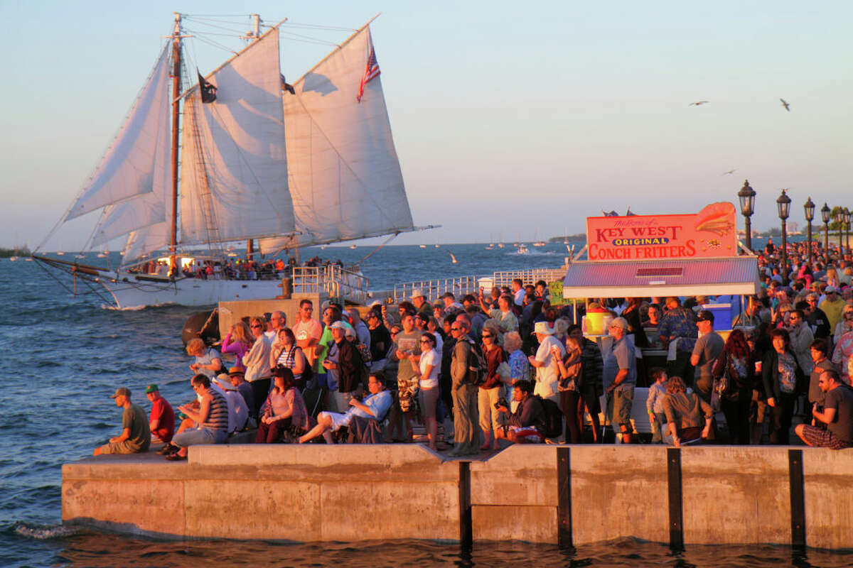 A Sunset Celebration at Key West's Mallory Square.
