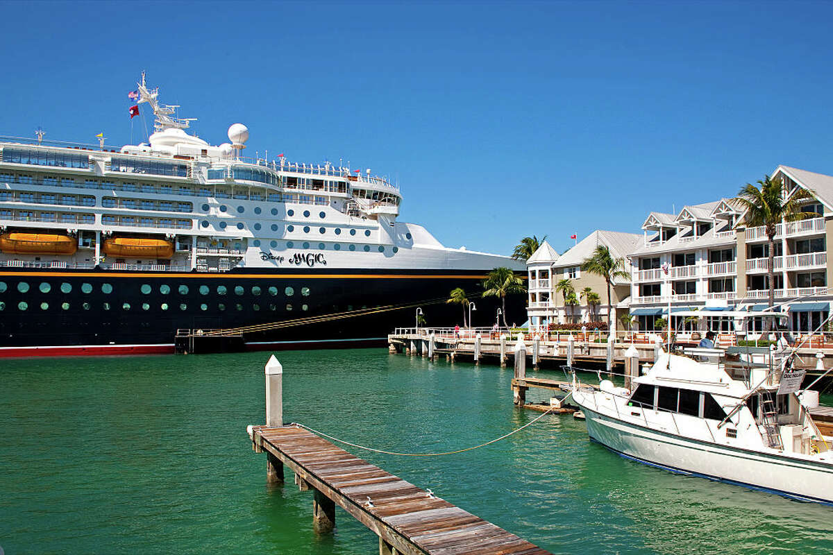 Giant cruise ships like the Disney Magic are no longer welcome in Key West, Fla. after a referendum passed banning them.
