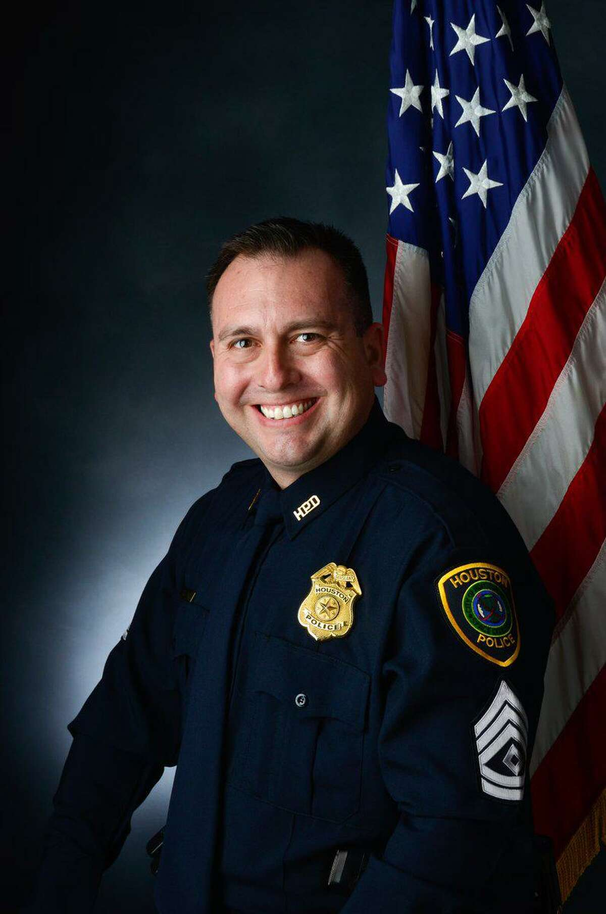 """Slain Houston police Sgt. Sean Rios grew up in Pasadena and graduated from Pasadena High School. A childhood friend remembers him as """"a really good guy"""" who cared about the community even as a kid."""