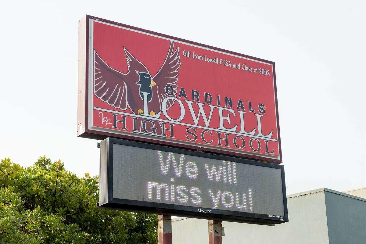 Lowell High School, Nov. 11, 2020.