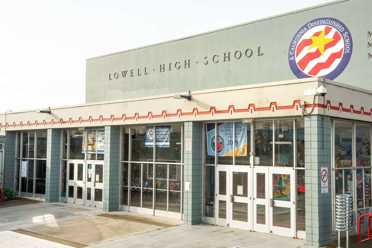 """FILE - Lowell High School is one of San Francisco's oldest public schools. """"Prop. 15 would have raised between $8.5 billion and $12 billion each year for education and other public services in California, at a time when schools were already facing severe funding challenges and struggling to balance budgets prior to the COVID-19 outbreak,"""" said San Francisco Unified School District spokeswoman Laura Dudnick."""