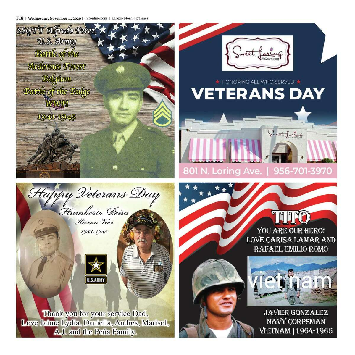 2020 Veterans Day Special Section