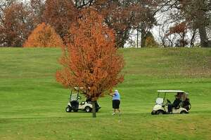 Rain didn't stop golfers from hitting the links at Frear Park Municipal Golf Course on Wednesday, Nov. 11, 2020 in Troy, N.Y. (Lori Van Buren/Times Union)