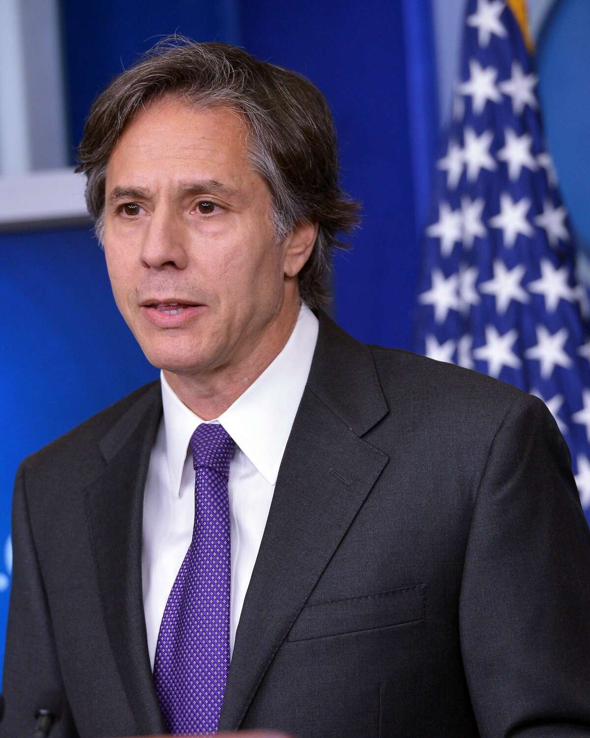Deputy National Security Advisor Tony Blinken speaks during the daily briefing in the Brady Briefing Room of the White House on July 28, 2014 in Washington, DC. AFP PHOTO/Mandel NGANMANDEL NGAN/AFP/Getty Images