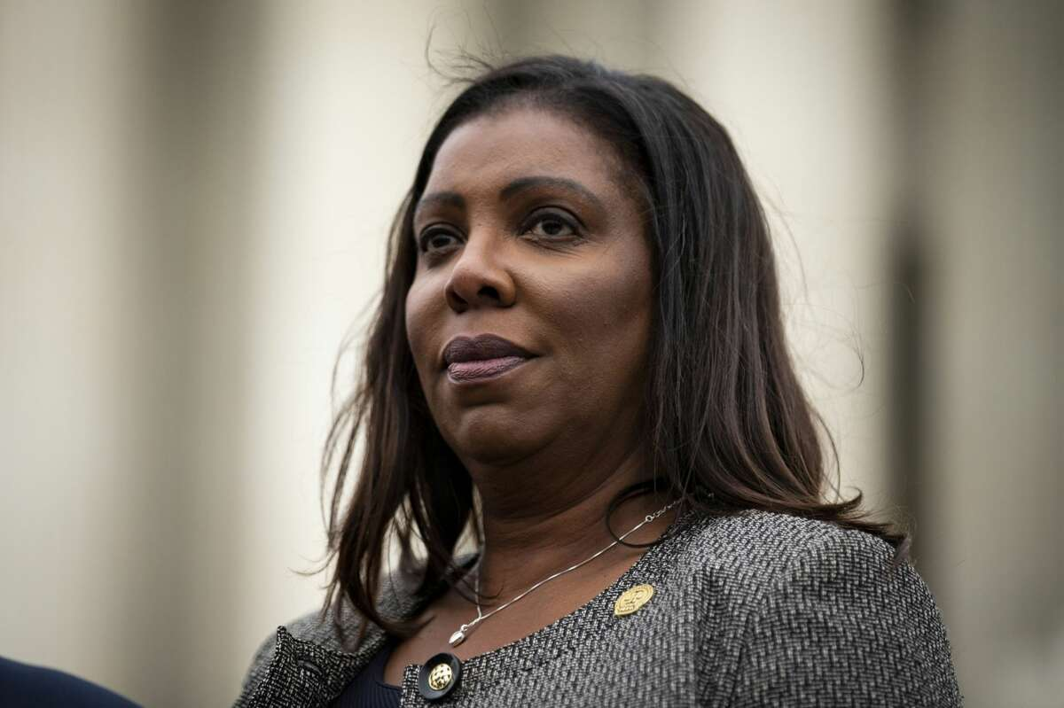 Letitia James, New York's attorney general, outside the Supreme Court in Washington, D.C., on Nov. 12, 2019. MUST CREDIT: Bloomberg photo by Al Drago.