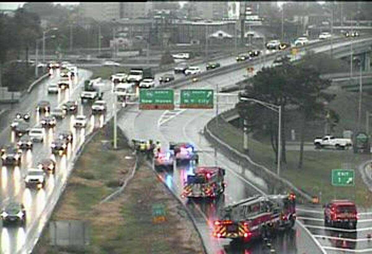 In Bridgeport, a multi-vehicle accident has closed all but one lane on southbound Route 8/25 in Bridgeport. Traffic is being detoured off of exit 2.