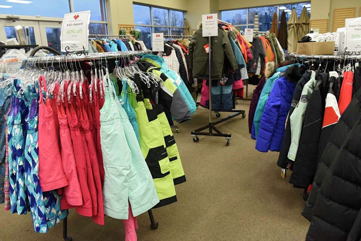 Winter jackets and ski pants are seen on display at Alpin Haus on Wednesday, Nov. 11, 2020 in Clifton Park, N.Y. There won't be a ski show in Albany this year. (Lori Van Buren/Times Union)
