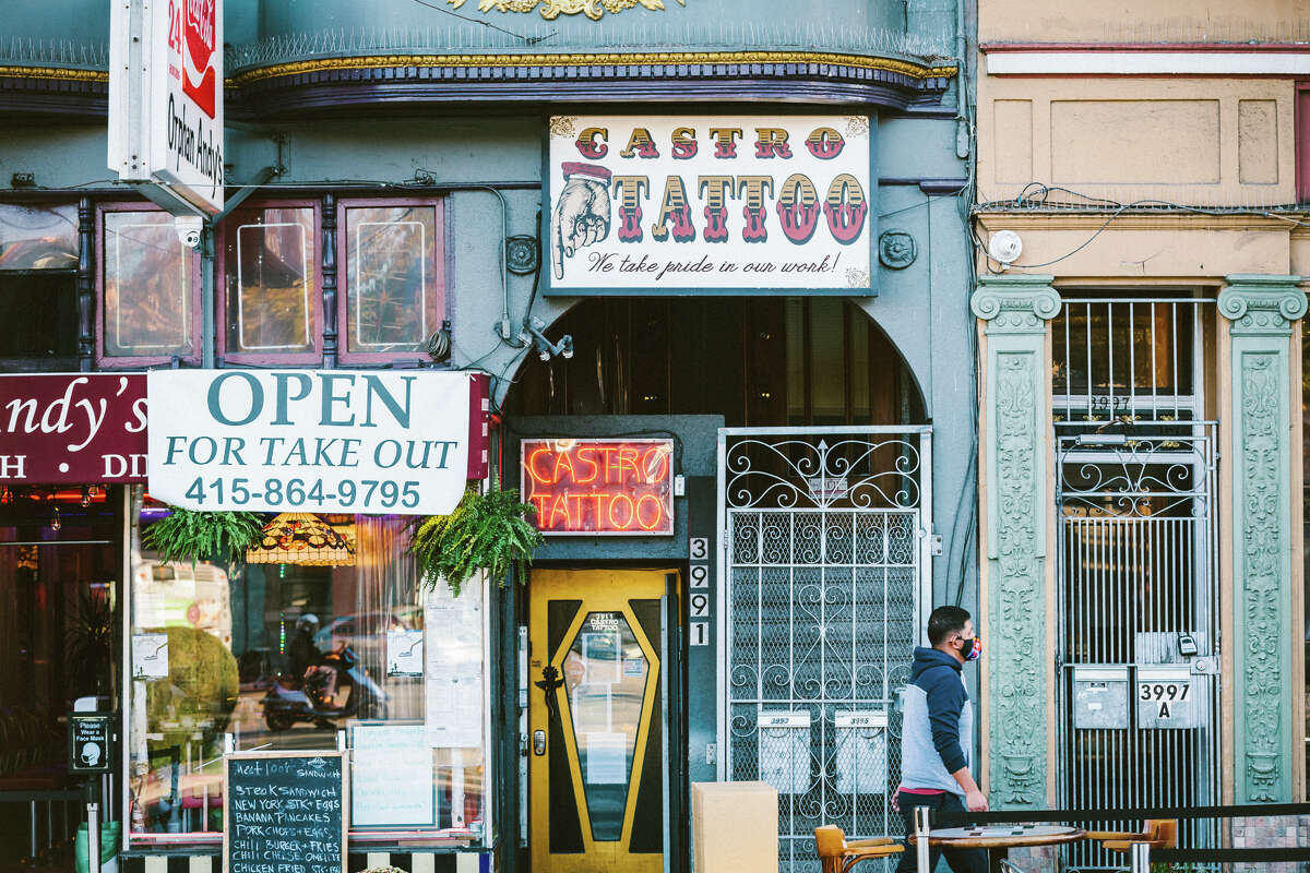 At Castro Tattoo, no more than four people are allowed in the shop at once, and artists are limited to seeing one client per day.
