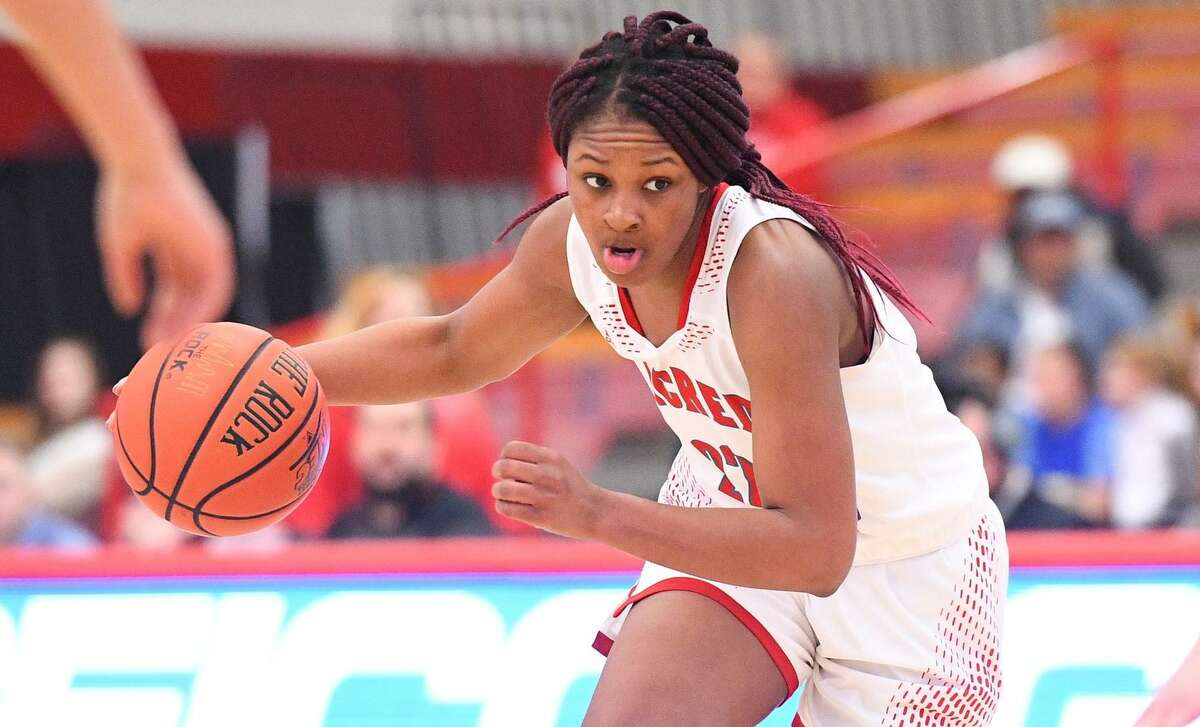Sacred Heart's Adrianne Hagood, who had 29 points in a win over Bridgeport last season, is a preseason All-NEC selection.