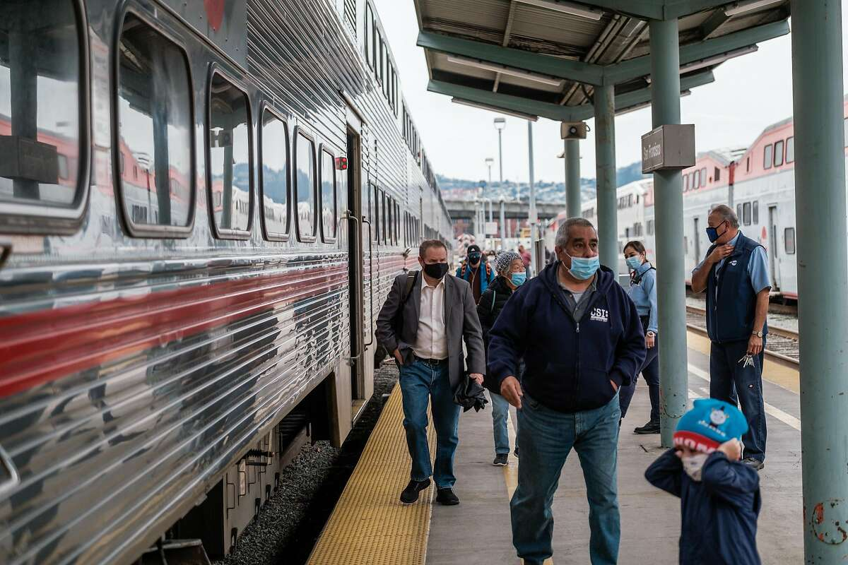 Joe Biden commuted on Amtrak for years and is known as a public transit advocate. But that's not likely to bail out struggling systems like Caltrain.