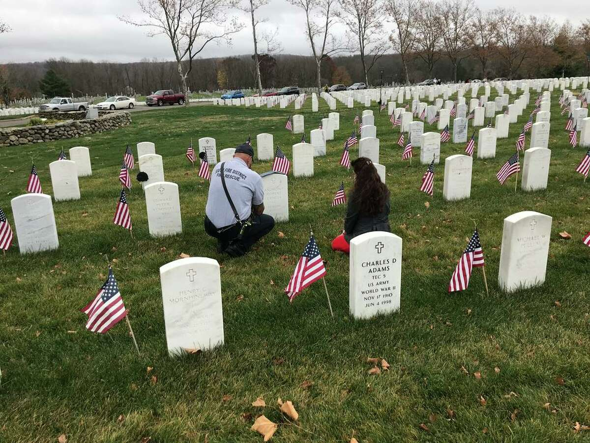 Portland and Cromwell held Veterans Day remembrances Wednesday, Nov. 11, 2020.