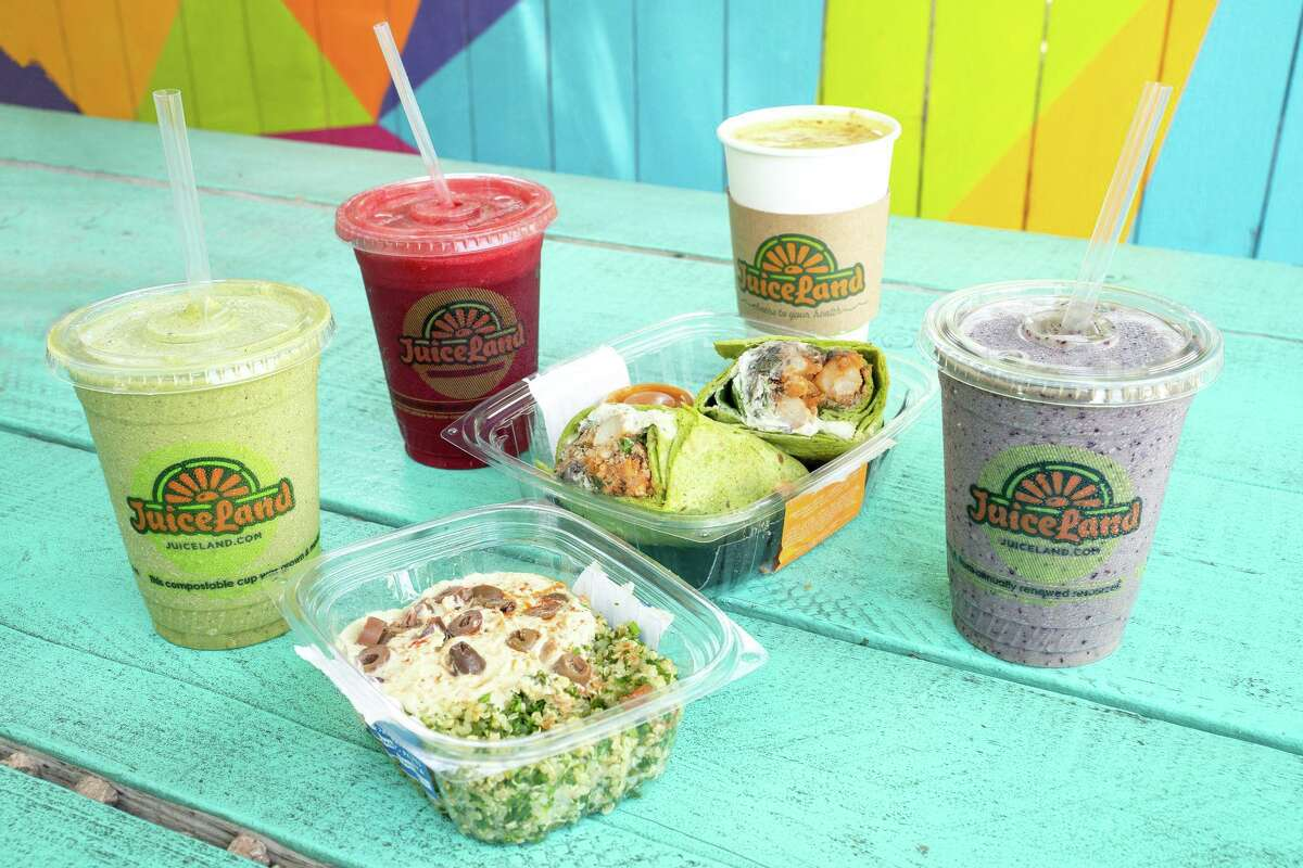 JuiceLand offers a plant-based menu with juice, smoothies and food.