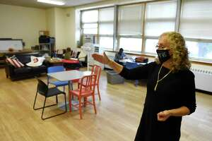 CCI Executive Director Gaby Rattner shows the new Community Centers Inc. of Greenwich headquarters in the Chickahominy section of Greenwich on Oct. 29.