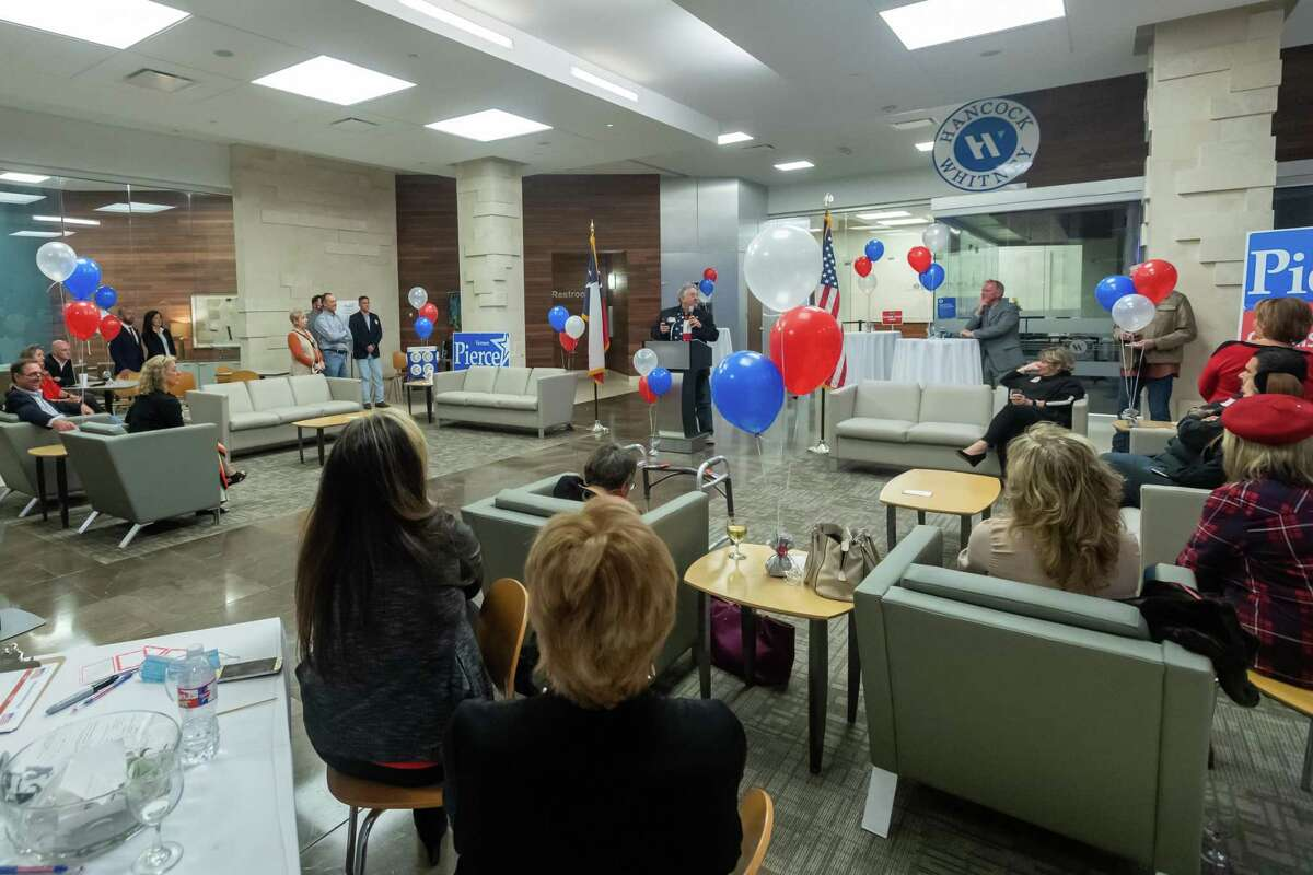 Republican candidate for Jefferson County Commissioner Vernon Pierce held his victory party at Edison Plaza on election night. Photo made on November 3, 2020. Fran Ruchalski/The Enterprise