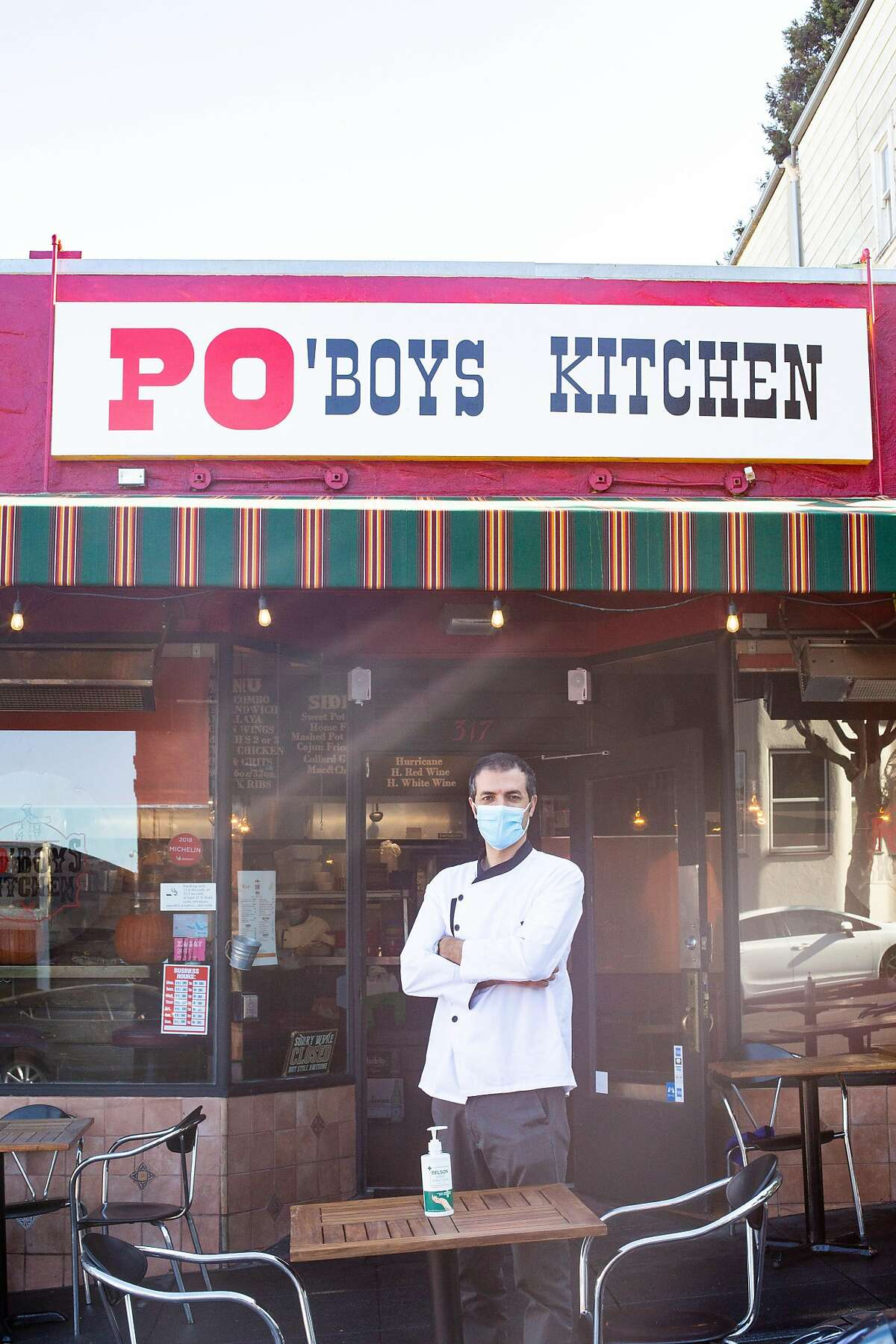 Metin Yalcin, the owner of Po'boys Kitchen in Portrero Hill, stands outside of his new restaurant. It's one of few Louisiana-inspired restaurants in the city.