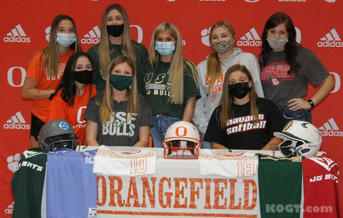 Emily Humplik and Olivia Grant signed letters of intent Wednesday to continue their softball careers.