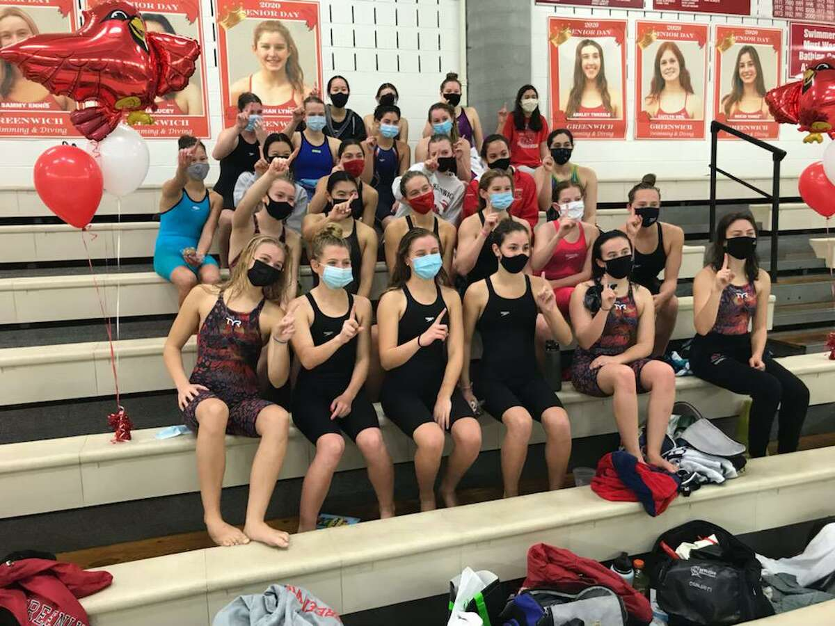 The Greenwich High School girls swimming/diving team won the FCIAC West Region title on Wednesday, November 11, 2020, at Greenwich High School in Greenwich, Connecticut.