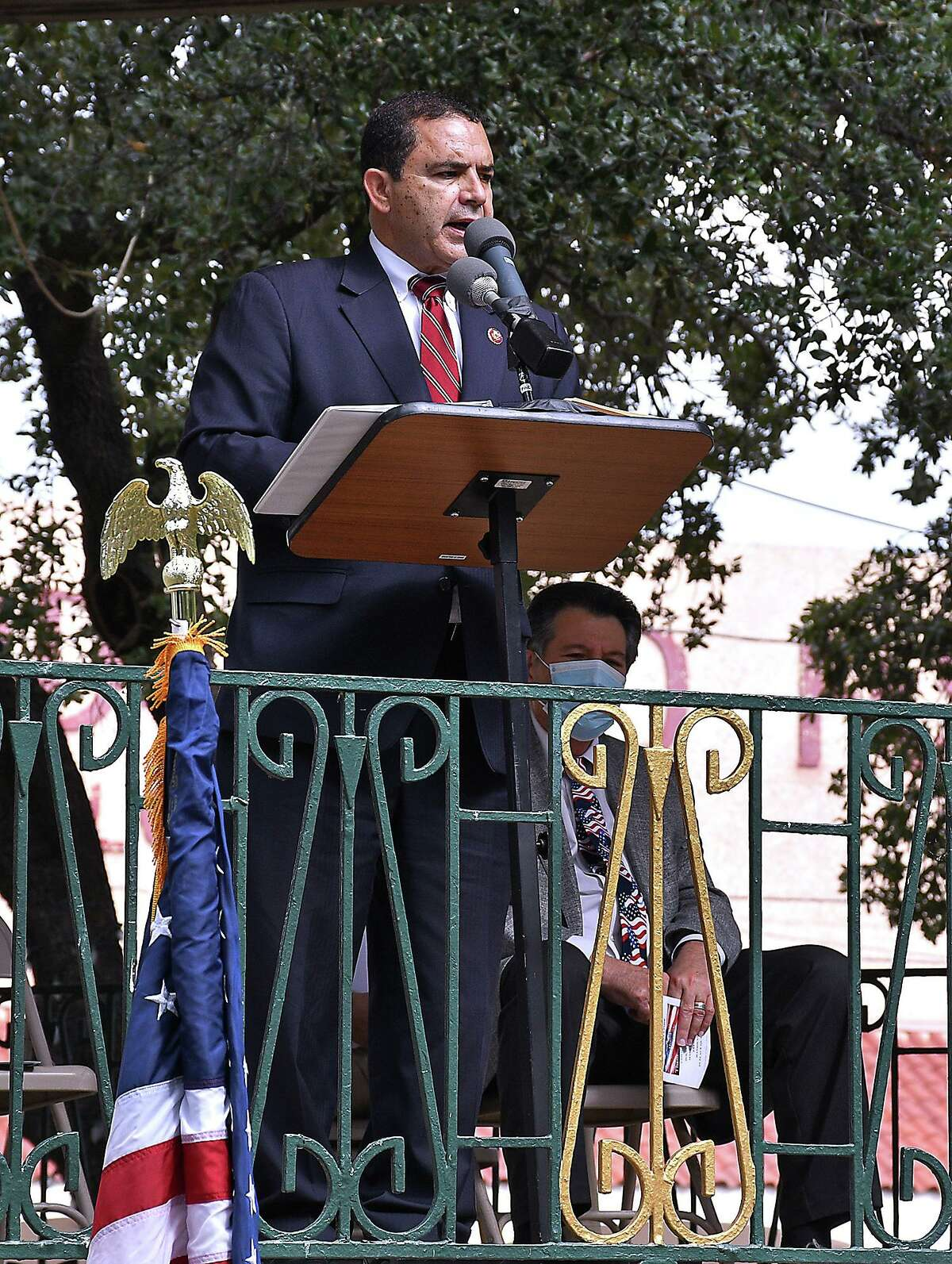 VFW Post 9194 hosted the Annual Veterans Day celebration, Wednesday, November 11, 2020, at San Agustin Plaza. Military veterans, family members members of the community and local officials participated in the event.