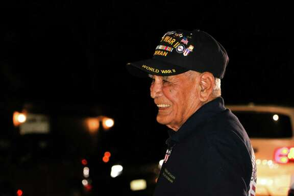 The CEO of GuidonHoldings, Nate Wilkes, a West Point graduate, held a surprise 50-vehicle drive-by for Private 1st Class Vincent Moreno, a 96-year-old WWII veteran to celebrate Veterans Day at his daughter's home in Atascocita.