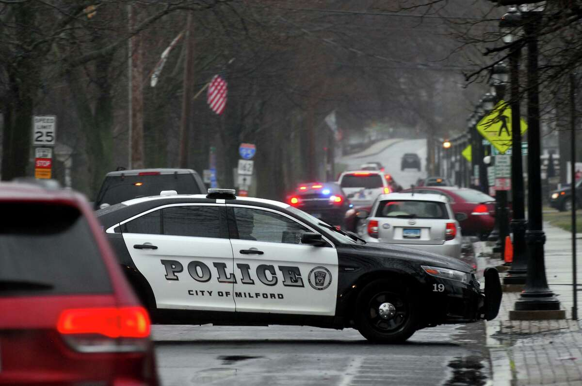 File photo of a Milford, Conn., police cruiser.