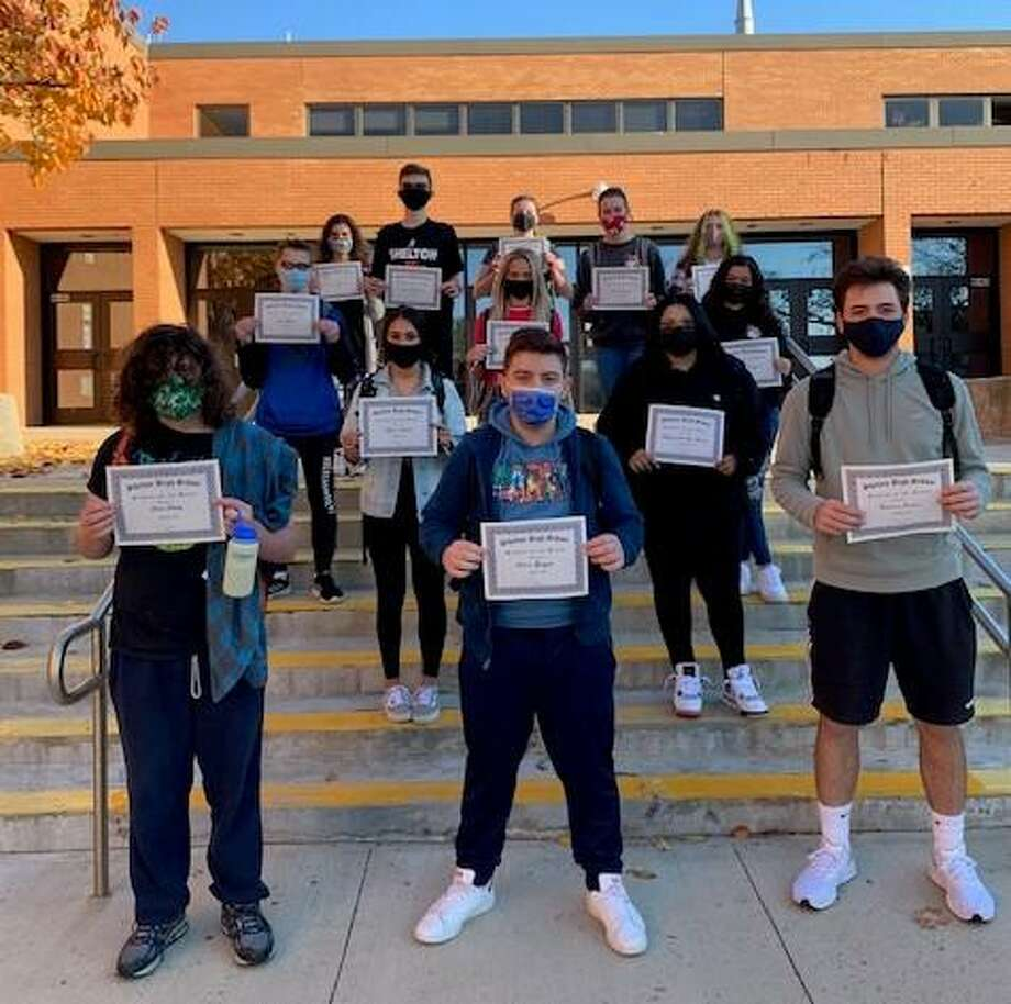 Shelton High School its Students of the Month for October 2020. Photo: Shelton High School / Contributed Photo / Connecticut Post