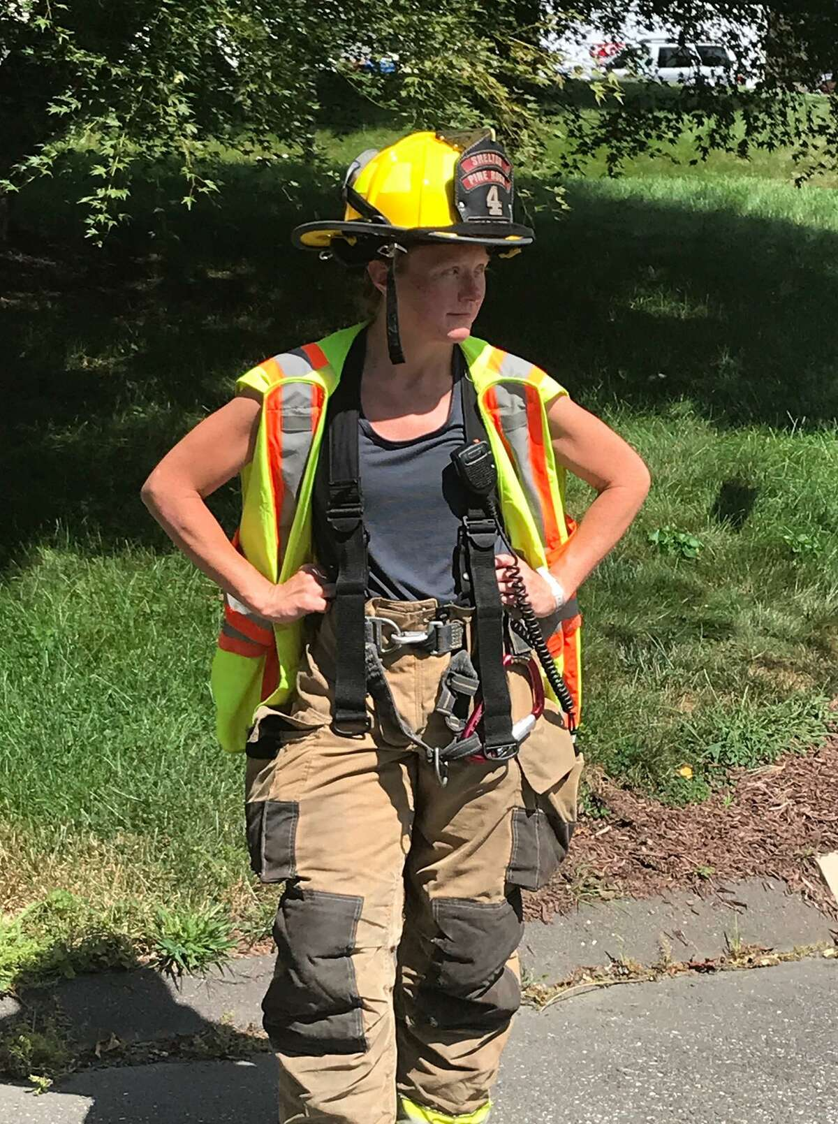 Megan Morra is a firefighter with Pine Rock Company No. 4.