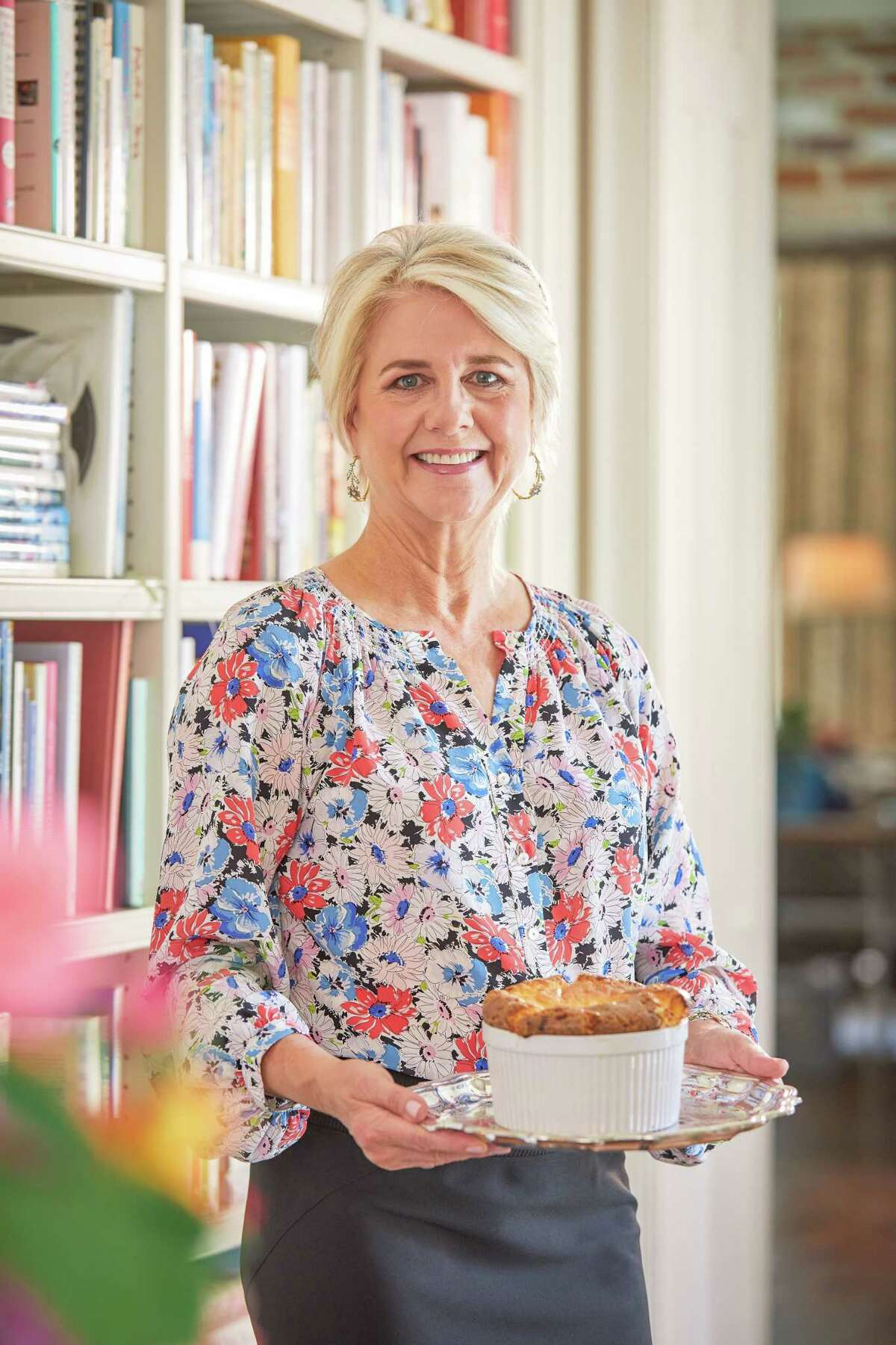 The Fab Fete is a new concept from Houston catering company Swift + Company offering freezer-to-oven gourmet souffles, available for nationwide shipping. Shown: Elizabeth Swift Copeland, founder of Swift + Company and sister company The Fab Fete.