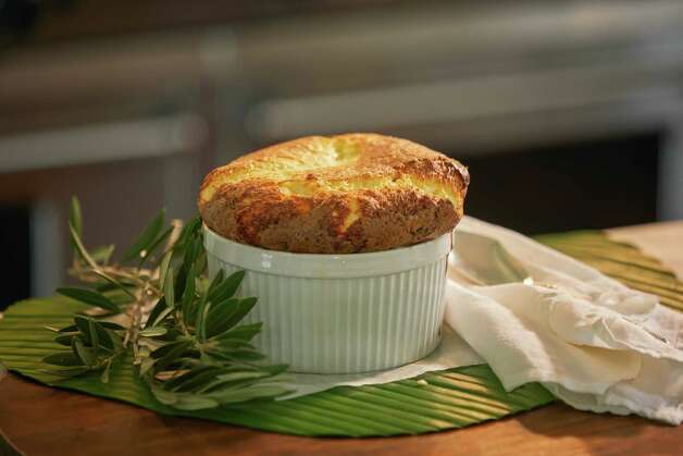 The Fab Fete is a new concept from Houston catering company Swift + Company offering freezer-to-oven gourmet souffles, available for nationwide shipping. Shown: Signature cheese souffle. Photo: Terry Vine / Copyright Terry Vine