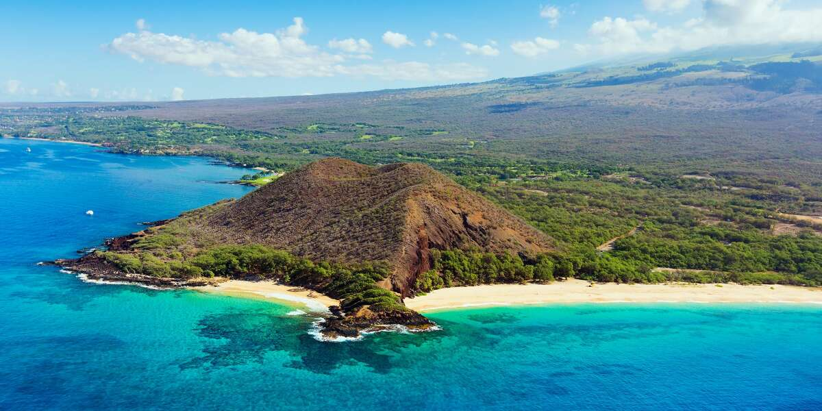 A photo of the beach at Hawaii's Makena State Park in Maui.