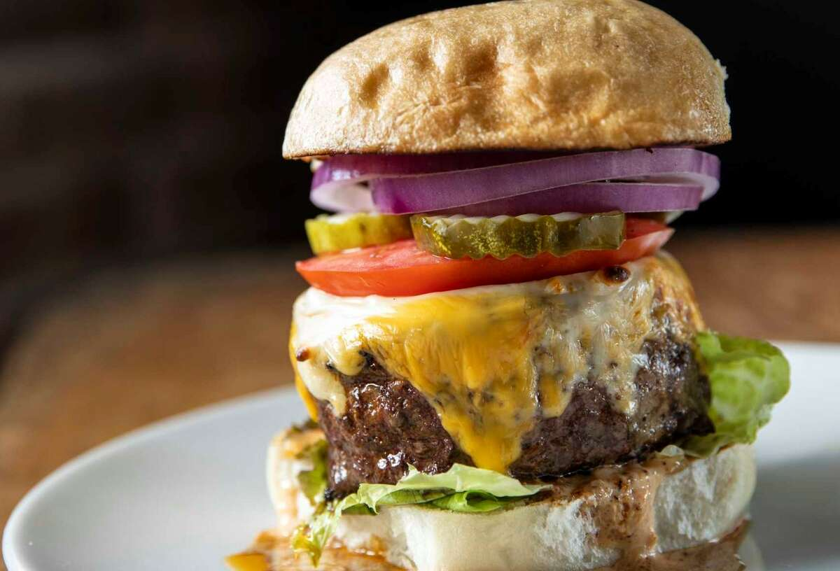 The Rub Cheeseburger at Jonathan's the Rub .