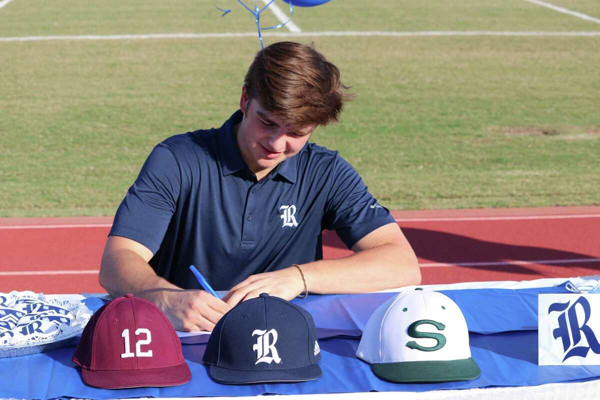 Stratford's Mark Perkins signed his National Letter of Intent to play baseball at Rice University at the school's Early Signing Day ceremony on the afternoon of Nov. 11