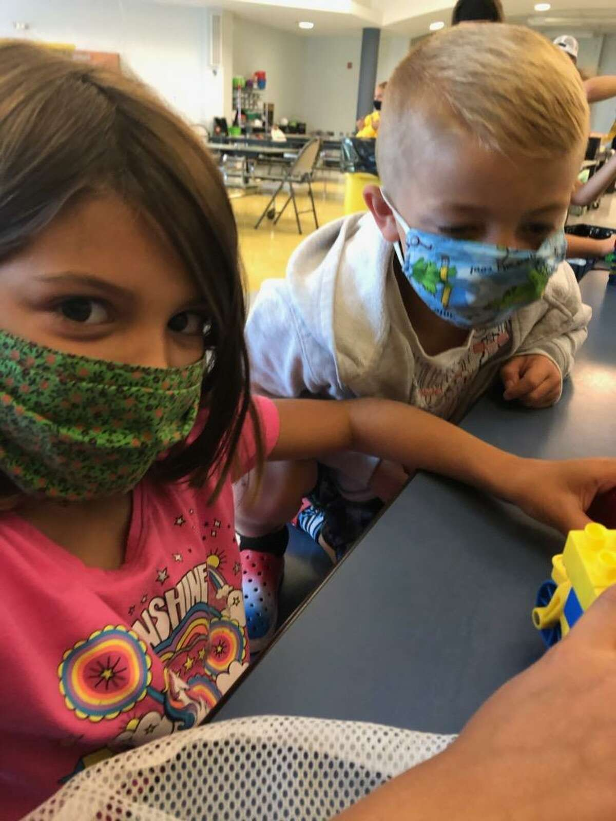 Kids wearing masks and enjoying the benefits of Mechanicville Area Community Services Center. (Provided)