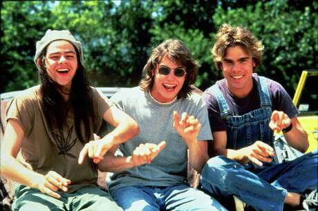 """From left, Slater (Rory Cochrane), Pink (Jason London) and Don (Sasha Jenson) are three pillars of learning in Richard Linklater's examination of the '70s high school experience, """"Dazed and Confused."""""""